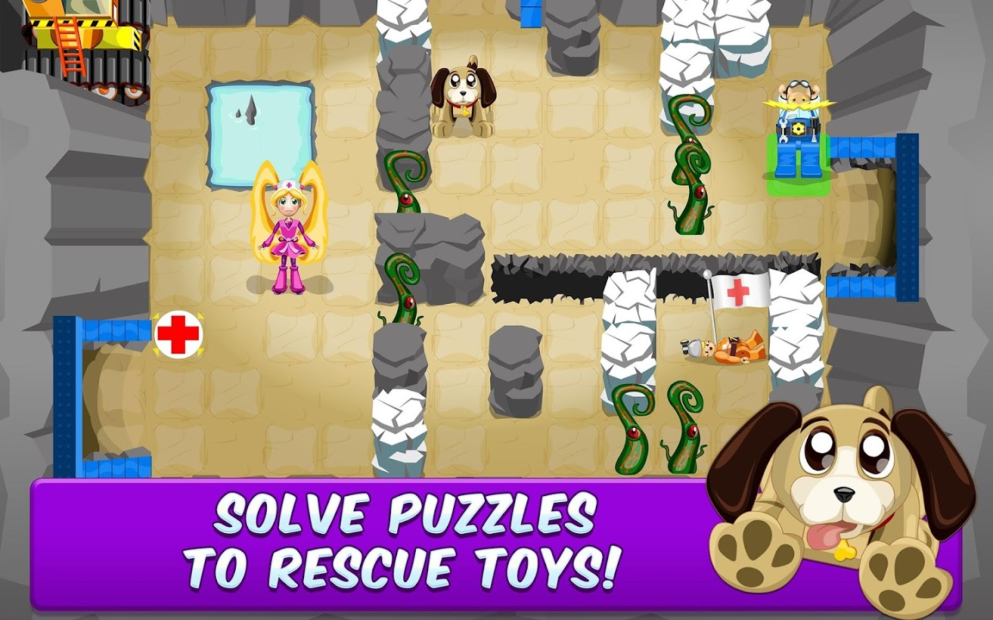 Toy Rescue Story - a 2D puzzle- screenshot