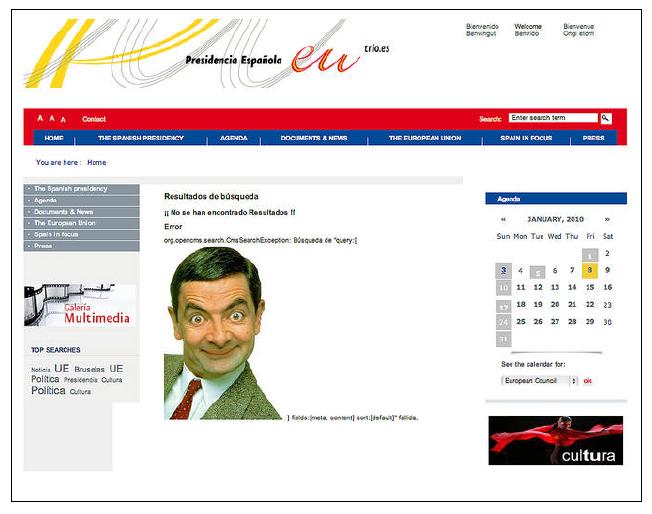 Ataque a la página de la presidencia española de la U.E. el 5 de enero de 2010