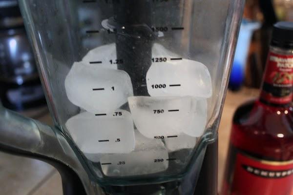 In blender crush ice cubes.