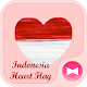 Beautiful Wallpaper Indonesia Flag Heart Theme Download on Windows