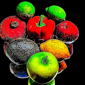 Health 2 Ya by Dave Walters - Food & Drink Fruits & Vegetables ( nature, lumix fz2500, abstract, food, colors, digital art )