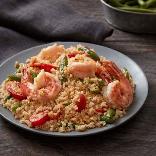 Shrimp Scampi with Whole Wheat Couscous.