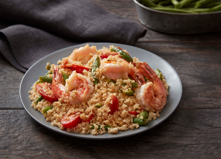 Shrimp Scampi with Whole Wheat Couscous