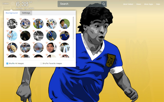 Diego Maradona Wallpapers Theme New Tab