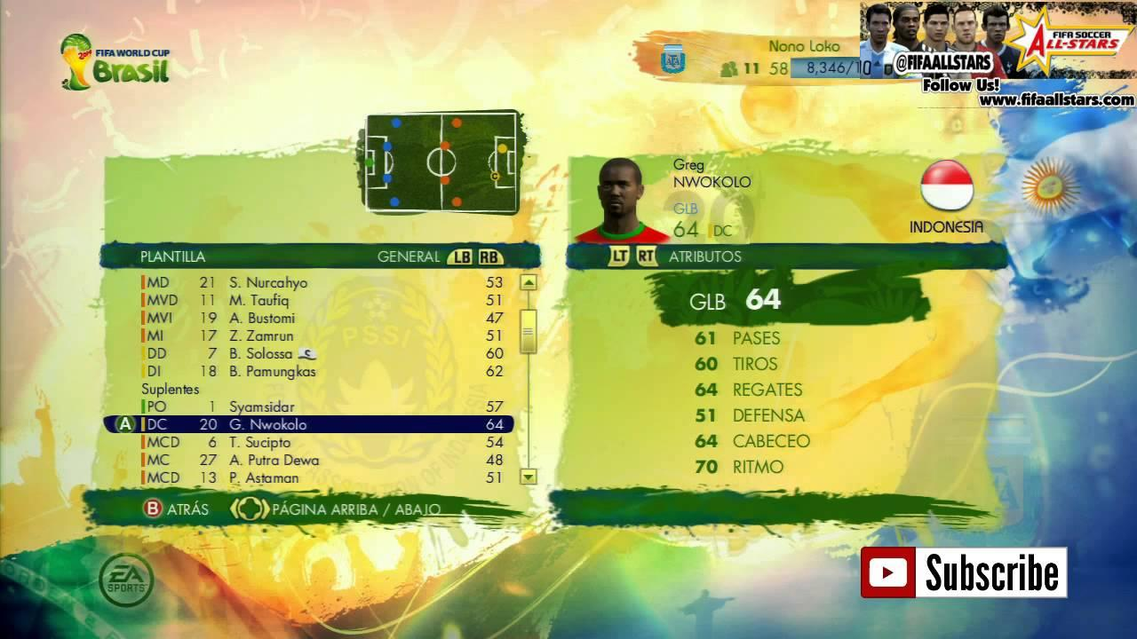 EA 2014 FIFA World Cup Indonesia Rating Players