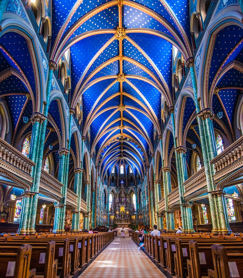 Bluest Blue by Roland Bast - Buildings & Architecture Places of Worship ( canada, church, blue, place of worship, architecture,  )