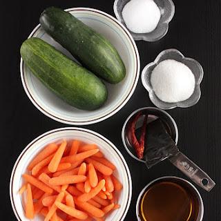 Japanese Style Pickled Vegetables.