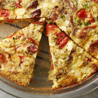 Impossibly Easy Roasted Peppers and Feta Cheese Pie Recipe