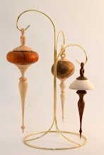 "Photo: Terry Lamb - Ornaments - 2.5"" x 8.5"" [Maple, plain_stained], 2"" x 7"" [Maple, Maple Burl], 2.5"" x 6"" [Ipe, Maple]"