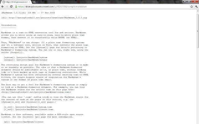 Markdown document renderer
