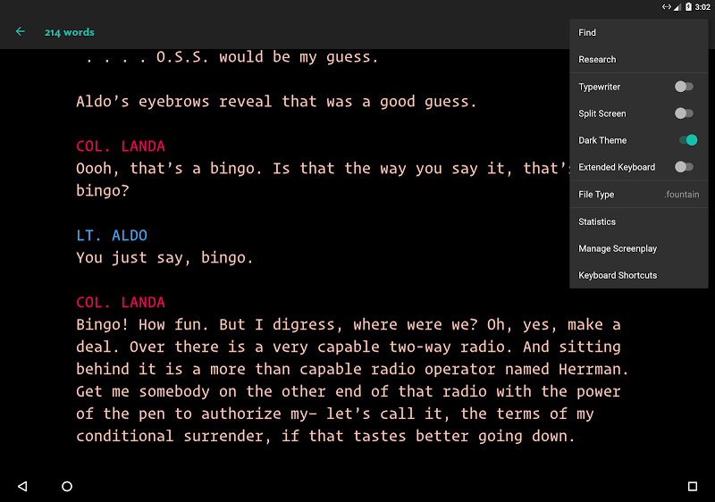 JotterPad - Writer, Screenplay, Novel Screenshot 16