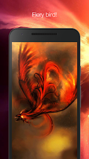 Fiery bird live wallpaper - náhled