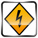 The strength of the electric current. APK