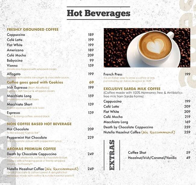 Aromas Cafe menu 8