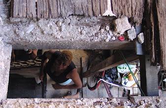 Photo: hole in floor/ceiling. cuba. Tracey Eaton photo