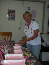 Photo: Ilse assembles counter boxes - Sept 09