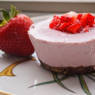 Strawberry Vegan Cheesecakes