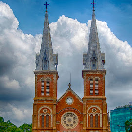 Church in Ho Chin Min by Pravine Chester - Buildings & Architecture Places of Worship ( building, church, ho chin min, cathedral, architecture, photography )