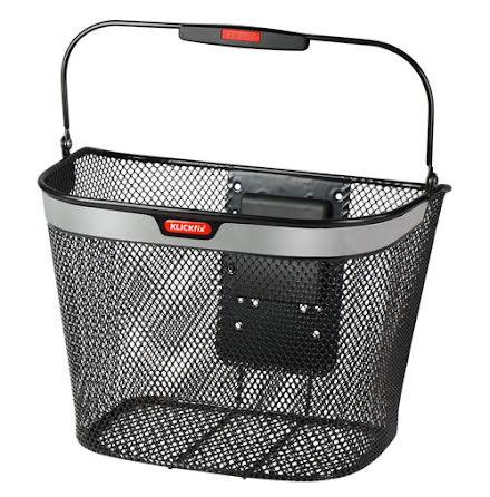 KLICKfix Uni Basket Reflect, sykkelkurv, sort