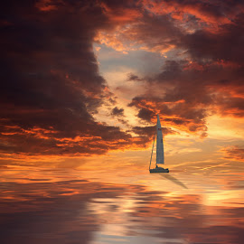 NP0014 by Frank Quax - Landscapes Waterscapes ( sailboat, seascape, nature, photoshop, sailing, manipulation, creative, sea )