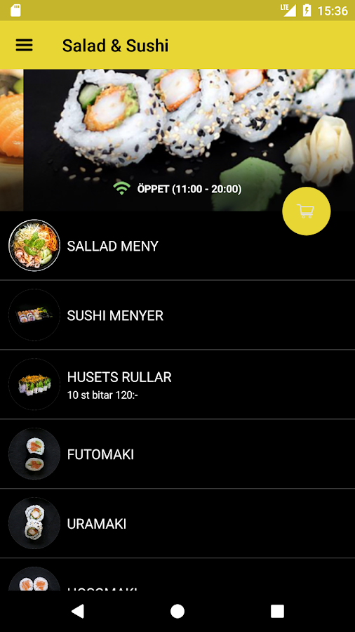 Salad & Sushi- screenshot