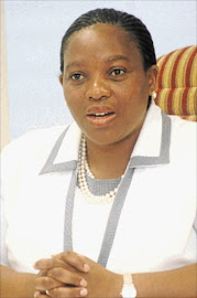 Co-operative and traditional affairs MEC Nomusa Ncube-Dube.