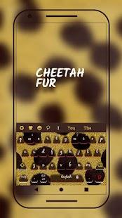 Cheetah Fur Keyboard Theme - náhled