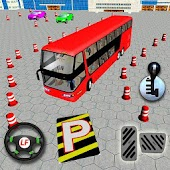 moderne entraîneur autobus parking simulateur