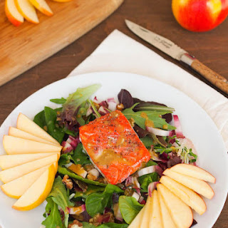 Slow Roasted Salmon Salad with Apples and Maple Mustard Dressing