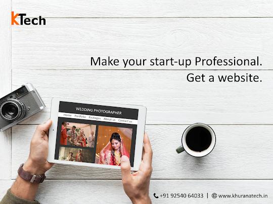 Make your start-up professional. Get a website.