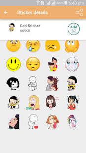 Sad Sticker Pack - WAStickerApps Screenshot