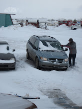 Photo: April 7 - still clearing snow