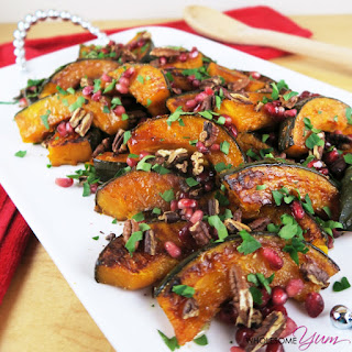 Roasted Kabocha Squash with Pomegranate and Pecans (Paleo, Low Carb) Recipe