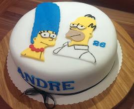 Photo: Homer und Marge Simpson Motivtorte