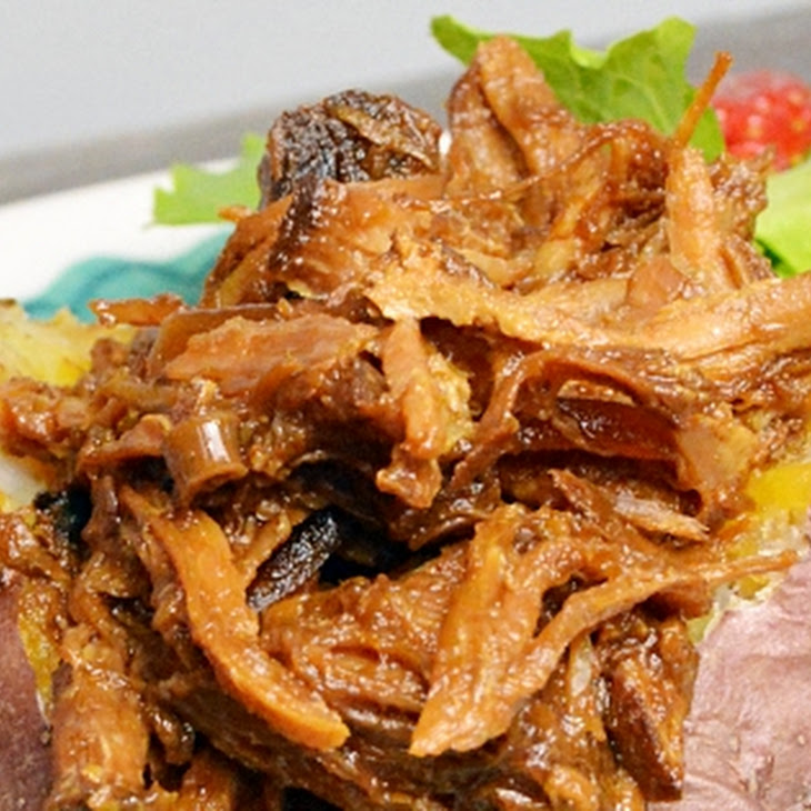 Slow Cooker Pulled Pork with Rhubarb BBQ Sauce