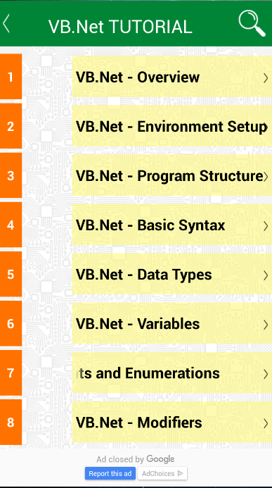 Learning VB.Net programming- screenshot
