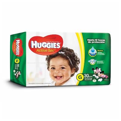 pañal huggies active G 30Und