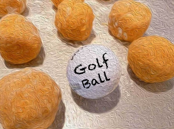 Shape into small balls, about the size of a golf ball.