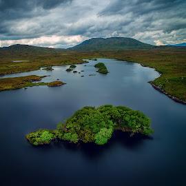 Connemara by Jim Hamel - Landscapes Travel ( clouds, water, connemara, ireland, galway )
