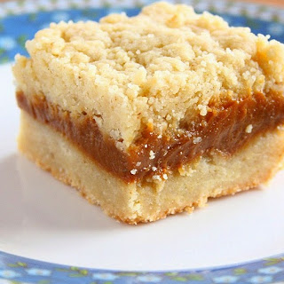 Caramel Crumb Bars with Brown Butter.