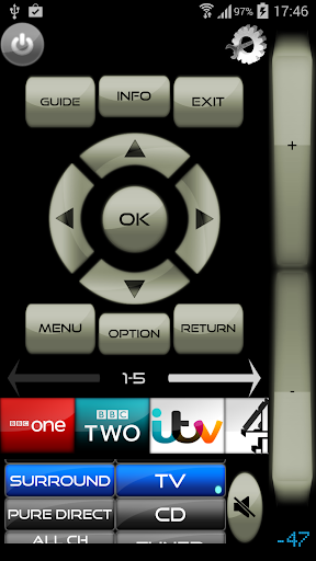Remote for Onkyo AV Receivers & Smart TV/Blu-Ray screenshot 2