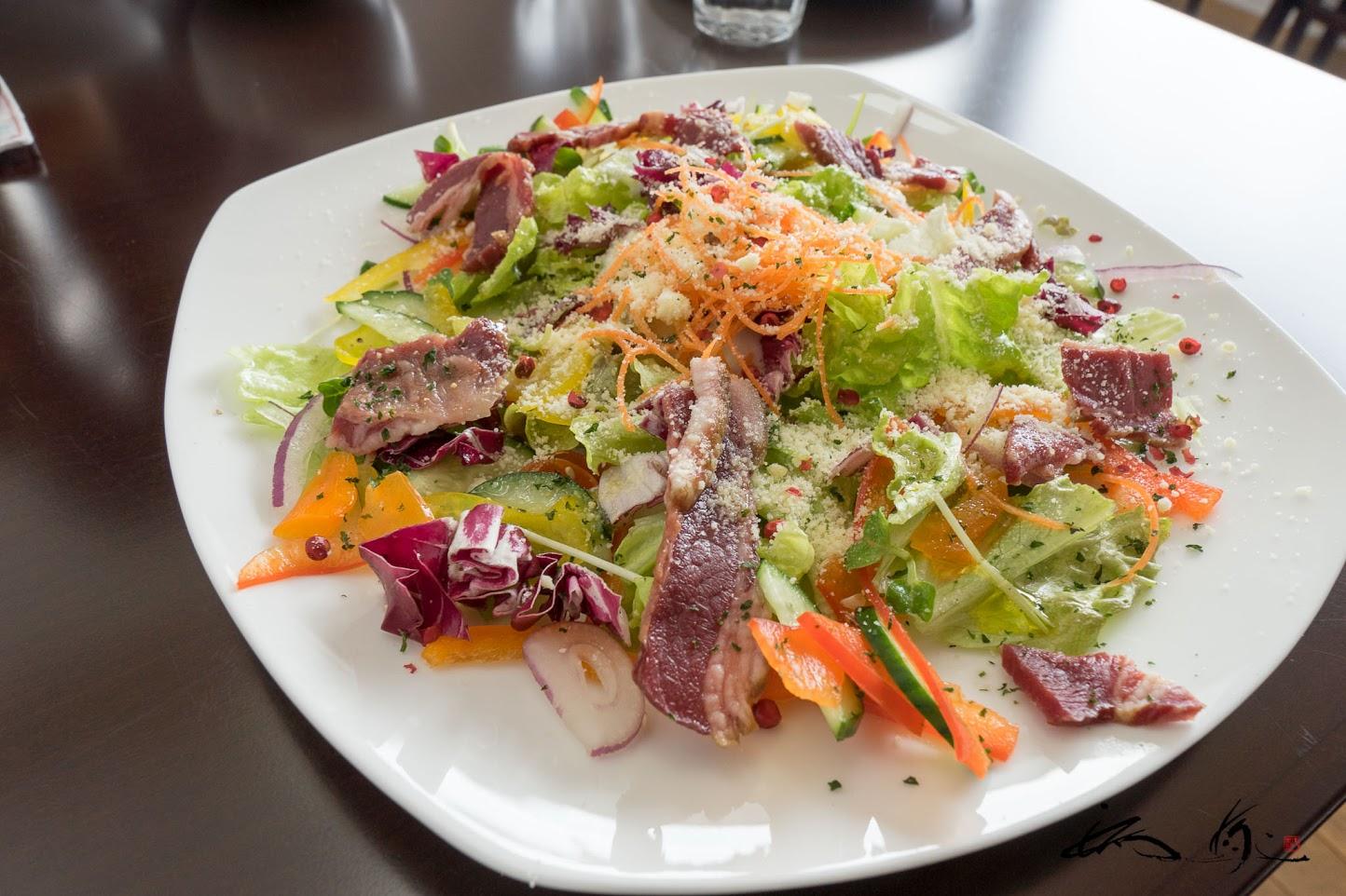 鹿ハム・野菜サラダ