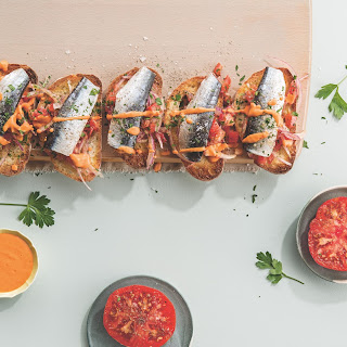 Sardines on Toast with Tomato Relish Recipe