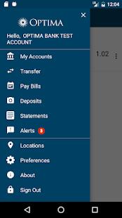 Optima Bank - Mobile Banking - náhled