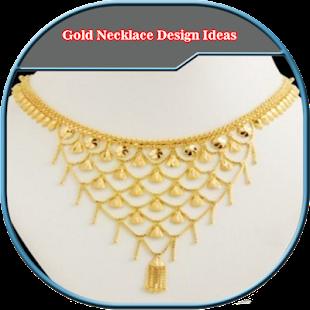 Gold Necklace Design Ideas - náhled