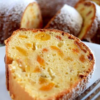 Apricot Raisin Cream Cheese Bundt Cake.