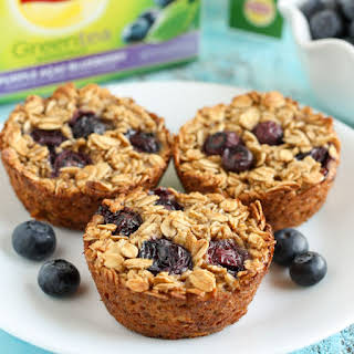 Baked Blueberry Oatmeal Cups.