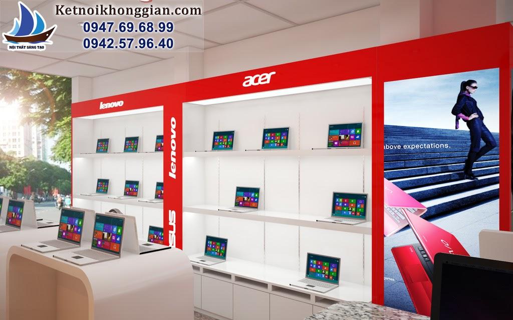 thiết kế cửa hàng máy tính hợp lý