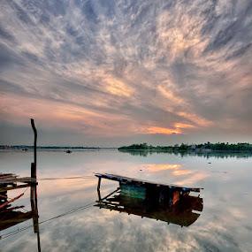 Faith by Hendri Suhandi - Landscapes Cloud Formations ( west kalimantan, cloud, sunrise, river, borneo )