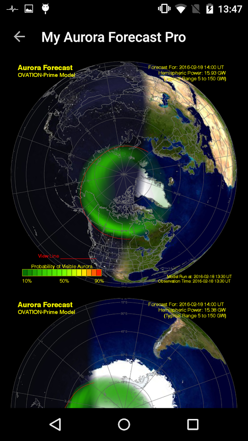 Aurora Alerts Northern Lights- screenshot